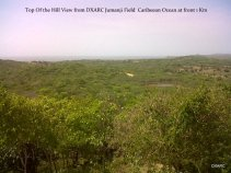 Vista desde el top de la montaña a 1 kilometro del Mar Caribe