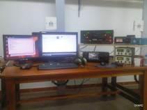 Estacion para la banda de 15 metros Icom 7800 y Alpha 9500