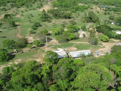 Vista toma aerea desde una de las torre Hacienda niña Monica Tubara Colombia